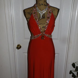Halter Red Pageant/Prom Dress